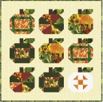 Pumpkins and Patches on ivory by