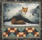 Fox & Tracks quilt by